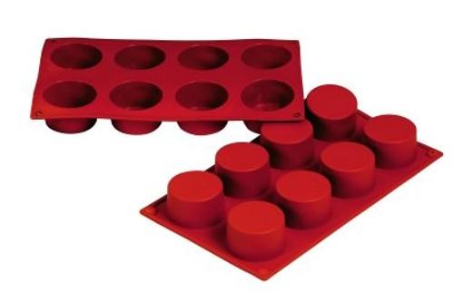Cylinder - 3 oz - 8 pc per tray - Silicone - Fat Daddio's