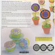 Cupcake/Cookie Texture Tops - Whimsy Blooms (Set of 3)