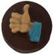 Thumbs Up Cookie Chocolate Plastic Mold (Oreo)