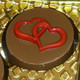 Heart - Round Cookie Chocolate Plastic Mold (Oreo)