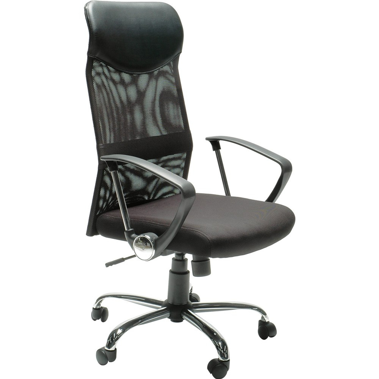 Stat Mesh Back Executive Chair High Back With Arms Black