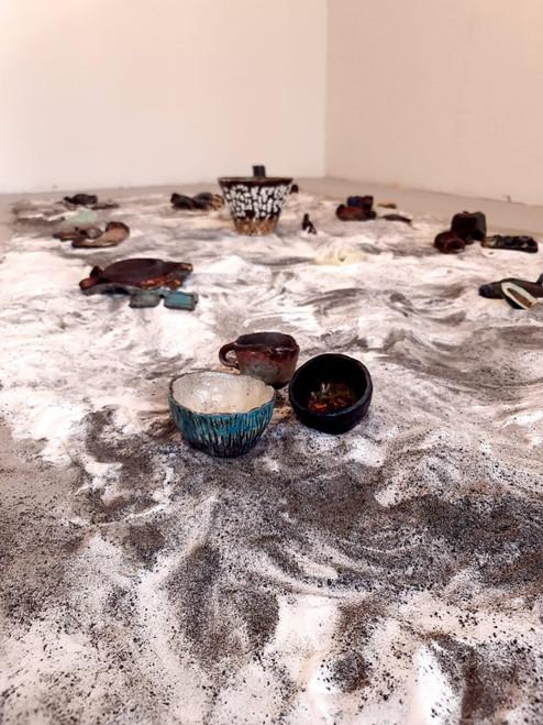Ceramics Alchemy by Ekta Bagri_2021_Ceramics, audio, aquarium sand