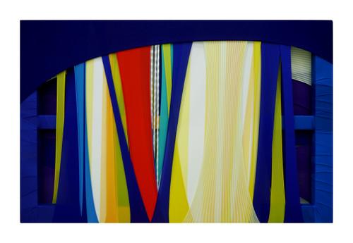 Daun Jeong_FabricDrawing#85_2020_Fabrics, Frame, Acrylic on Canvas