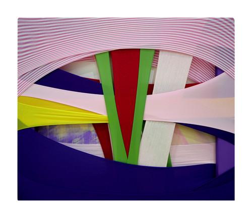 Daun Jeong_FabricDrawing#86_2020_Fabrics, Frame, Acrylic on Canvas