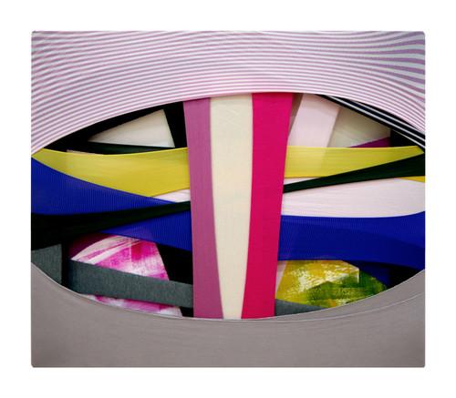 Daun Jeong_FabricDrawing#88_2020_Fabrics, Frame, Acrylic on Canvas