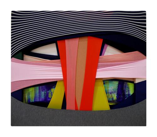 Daun Jeong_FabricDrawing#89_2020_Fabrics, Frame, Acrylic on Canvas