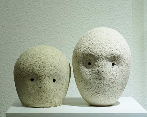 2020-face3 by Lee, se-whun_2021_ceramic sculpture_Mixed clay, white mat glazes, terra-sigillata.