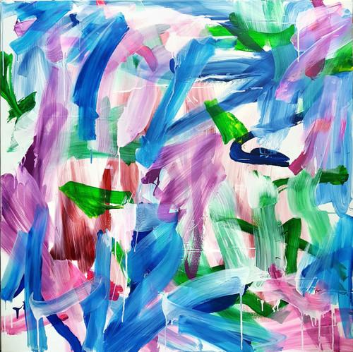 Paddling #10202_Yoon Joo_2020_Acrylic, ink on canvas