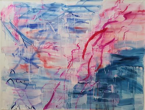 Erasing no.5_Yoon Joo_2019_acrylic, ink, gesso on canvas