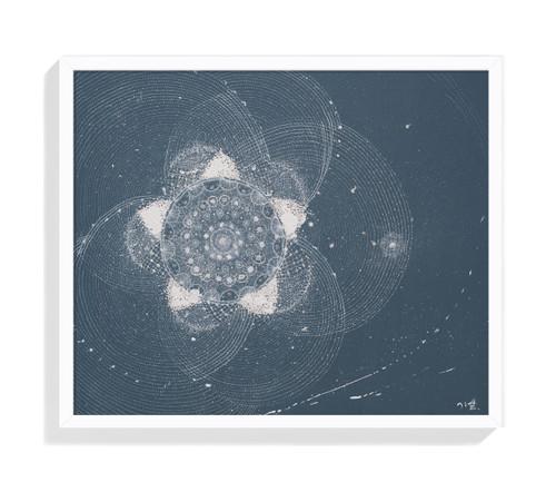 LIM Jiye_universe_2020_Drawing, Silk & Cotton Thread on Canvas