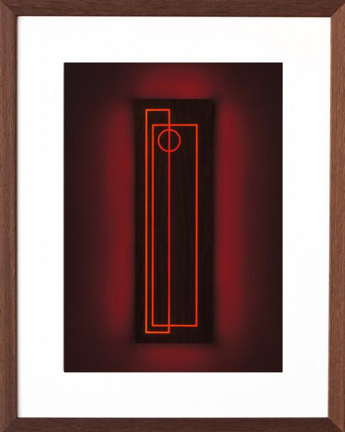 Totem I.II (red)_Aphra Shemza_2020_Digital, Paper_Abstract, Art Deco, Fine Art, Modern, Minimalism.