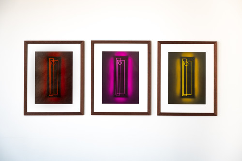 Totems I.II (set of 3)_Aphra Shemza_2020_Digital, Paper_Abstract, Art Deco, Fine Art, Modern, Minimalism.