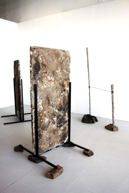 Landmarks (1)_Hannah Thompson_2021_Wax, Lard, Concrete, Ground Materials extracted from Derbyshire moorlands_Sculpture