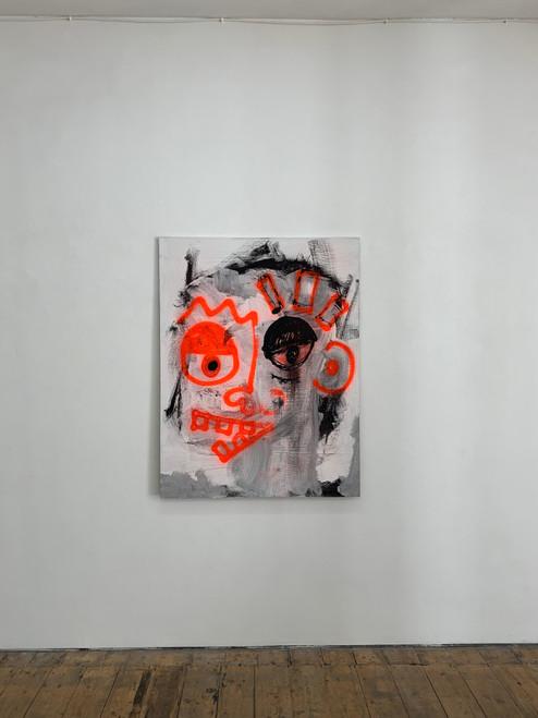 Soiled_Jaffar Aly_2021_Spray Paint and Acrylic on Plywood_Portraiture