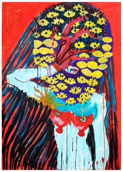 Ghost no. 40_Judas Companion_2020_Acrylic, Oil, Ink on paper