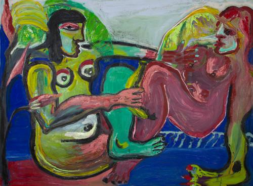 Under the banana tree_Anna Sualowska_2021_Oil on canvas