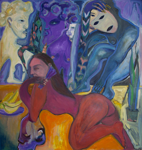 Masquerade_Anna Sualowska_2020_Oil on canvas