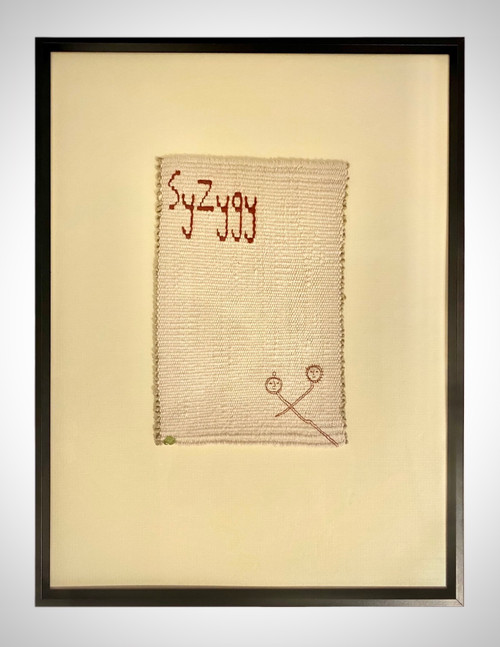 sleep in peridot_Leili Khabiri_2021_hand woven tapestry, hand embroidery, peridot stones_tryptich