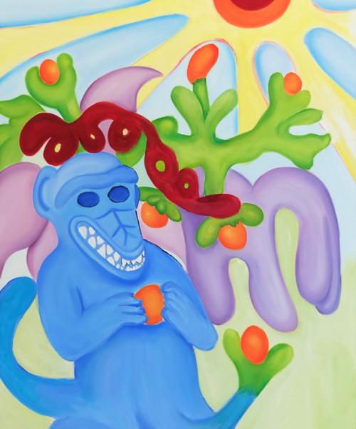 Fruit of my loins _Hazel Blair_2021_Oil on canvas