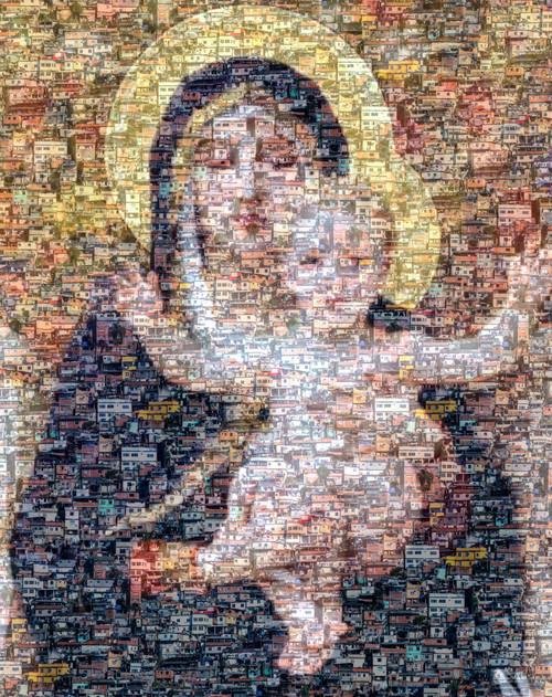 Maria, Mary, 'Eurivaldo Bezerra'. Favelas, 2021, 'Abstract Photography', People, Religion, Photography, abstract, 'multiple exposures', Brazil, Rio de Janeiro
