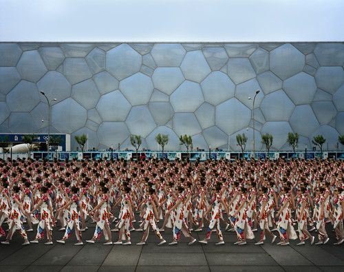 PARADE 8 Beijing by Almond Chu 2011. Archival Inkjet Print on Art Paper, Photography, 'The National Swimming Center', Beijing, China, print