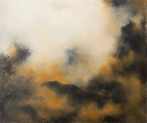 'All of You' by 'Francesca Borgo'. 2020. Mixed media on canvas, Abstract impressionism, sky, clouds