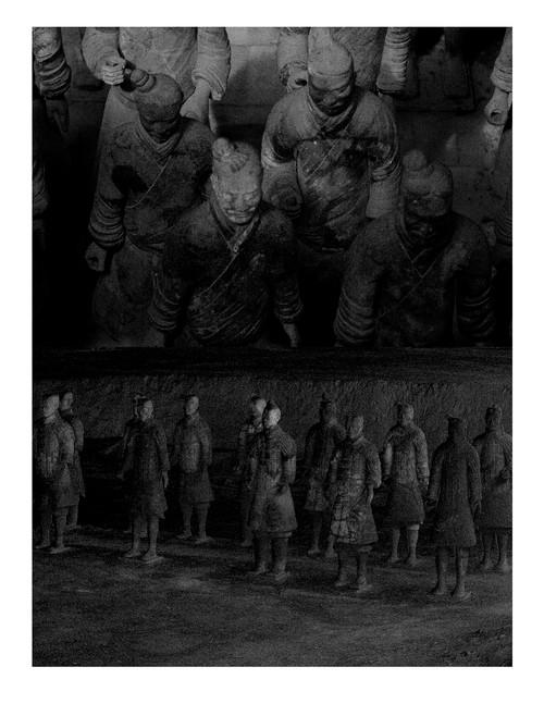 Terracotta Army - TA 2-1V by Katya Shkolnik. 2017. Giclee Fine Art Print on Hahnemuhle Photo Rug Smooth Fine Art Paper. 7/7