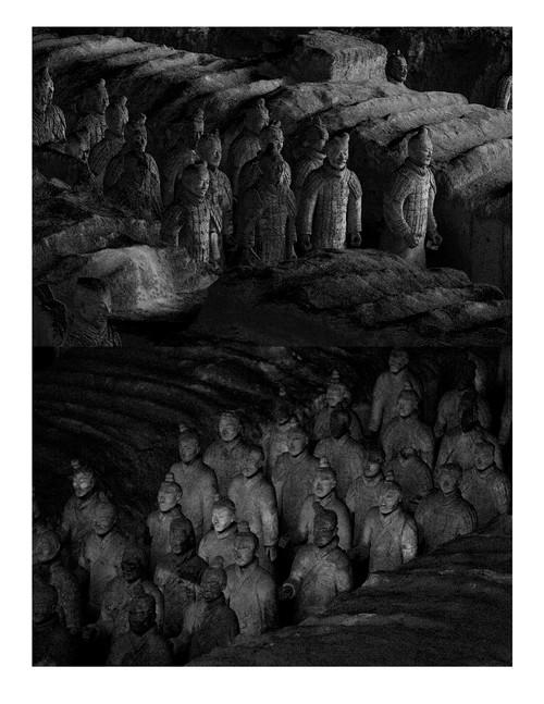Terracotta Army - TA 2-2V by Katya Shkolnik. 2017. Giclee Fine Art Print on Hahnemuhle Photo Rug Smooth Fine Art Paper. 7/7