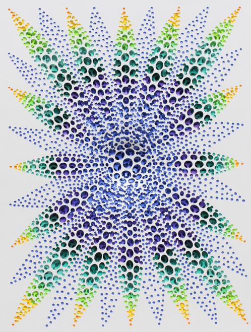 Vestige (Nature) by KIM JAE-IL. 2020. Acrylic on fiberglass resin. Sculptural painting.