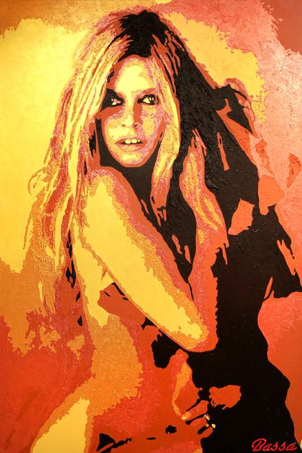Bardot - 'Icon' by BASSA. Acrylic on Canvas.