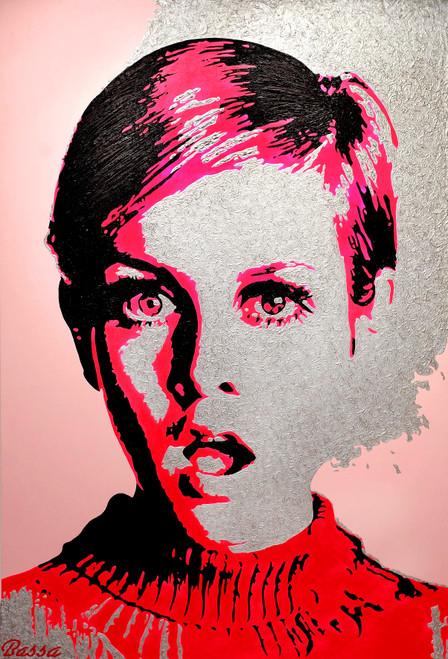 Twiggy – 'The Model' by BASSA. Acrylic on Canvas.