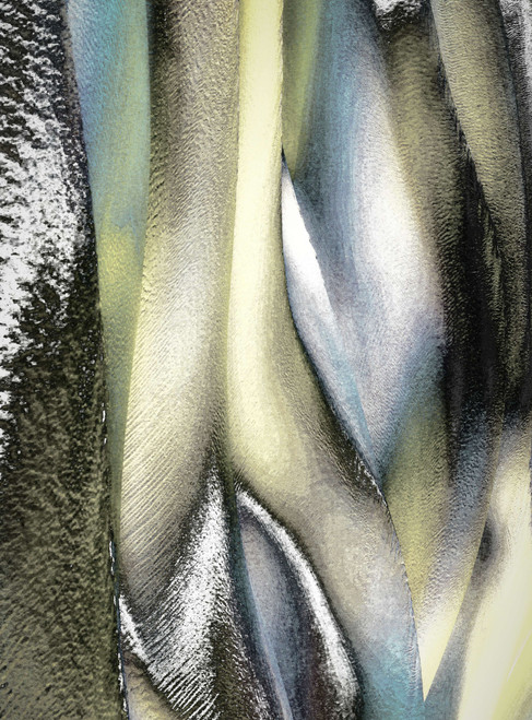 Snowdrops by M(M) Boguszak. 2021. Photo under acrylic glass, alcantara floating frame. Limited edition 1/5, 2 AP. Abstract.