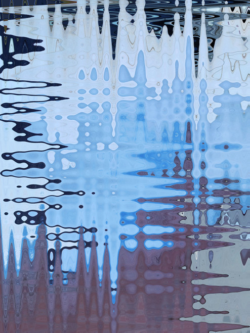 Serie Waves. Blue Spring by Ina Mindiuz. 2021. Digital print. Abtract.