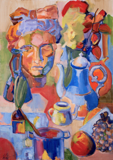 Still life with a bust by Irena Prochazkova. 2016. Oil on canvas. Modern Art.