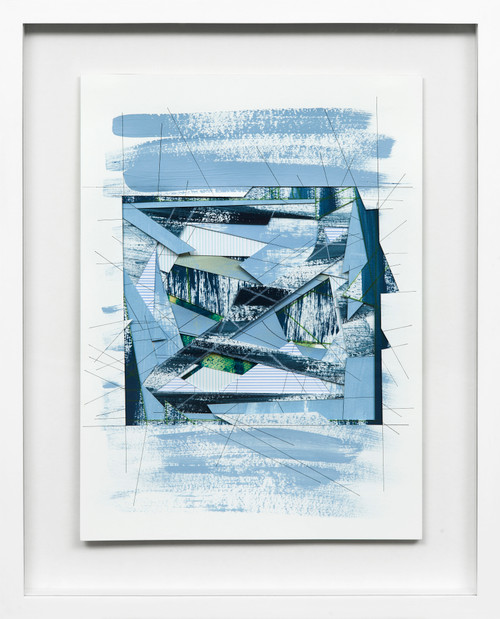 Wormhole #3 by Bimbi Larraburu. 2020. Paper cut, acrylic markers, ink. Abstract-Geometric.