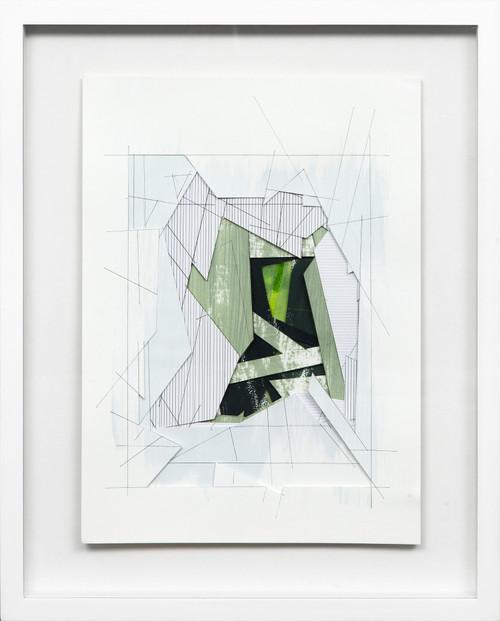 Wormhole #1 by Bimbi Larraburu. 2020. Paper cut, acrylic markers, ink. Abstract-Geometric.