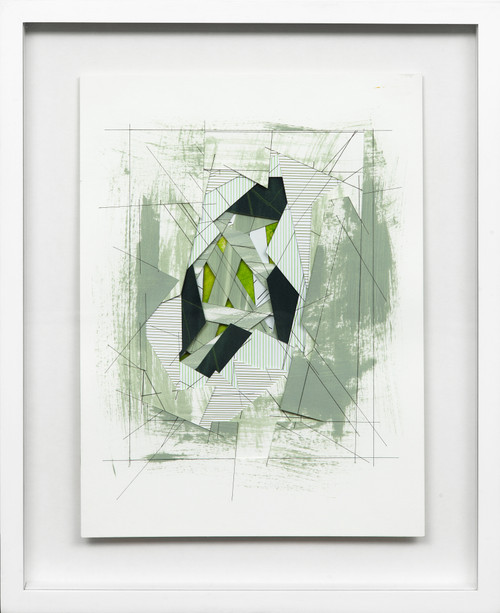 Wormhole #2 by Bimbi Larraburu. 2020. Paper cut, acrylic markers, ink. Abstract-Geometric.