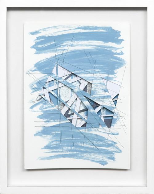 Wormhole #5 by Bimbi Larraburu. 2020. Paper cut, acrylic markers, ink. Abstract-Geometric.