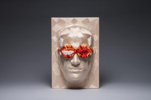 Bias 4 by June Lee. 2015. Thread on plastic cast.