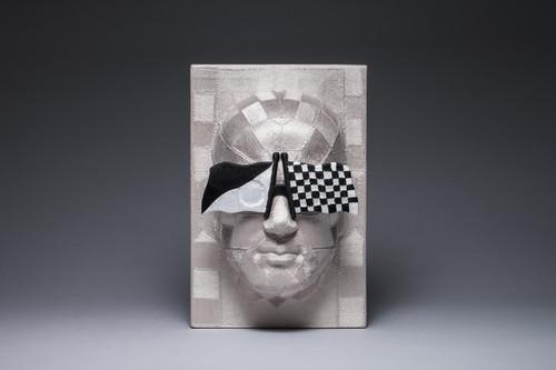 Bias 6 by June Lee. 2015. Thread on plastic cast.