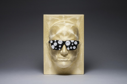 Bias 7 by June Lee. 2015. Thread on plastic cast.