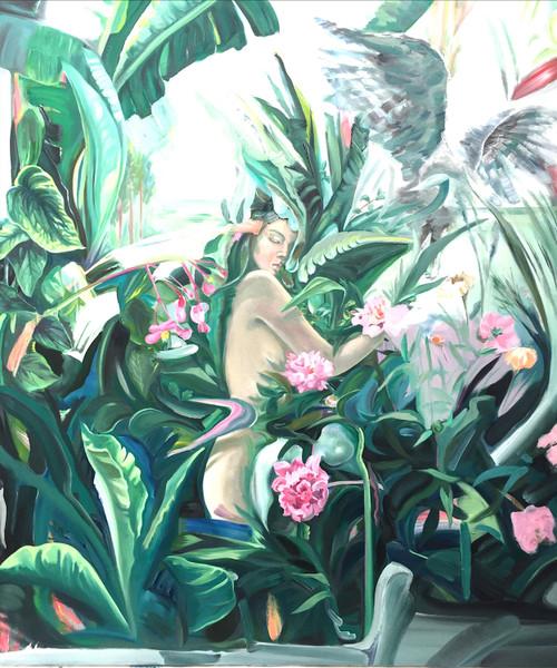 Time of Eva-love by Doya Lee. 2020. Oil on canvas. Fine art.