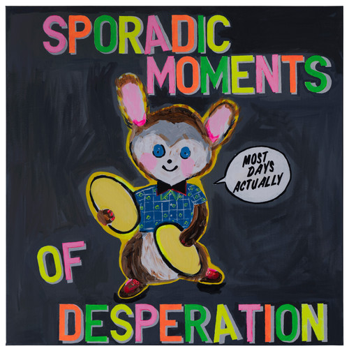 Sporadic Moments of Desperation by Magda Archer. 2019. Acrylic on canvas.