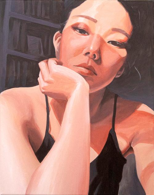 My Lockdown Selfie by Minjoo Kim. 2020. Acrylic on canvas. figurative