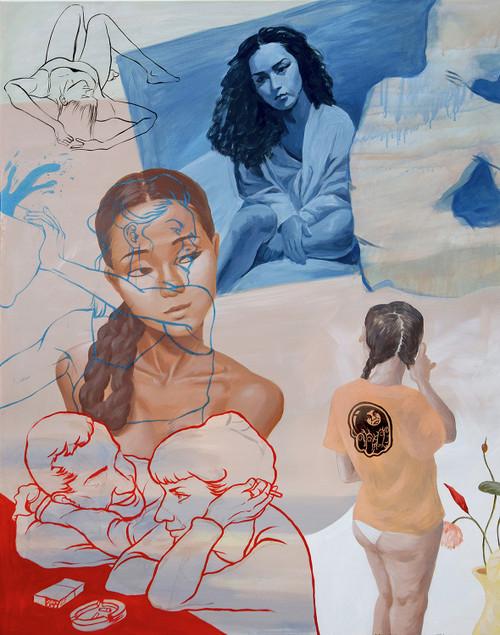 The Strongest Blues by Minjoo Kim. 2018. Acrylic on canvas. portrait
