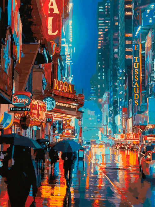 Impression Broadway by MARCO BARBERIO. 2021. Acrylic on Canvas. Realism.