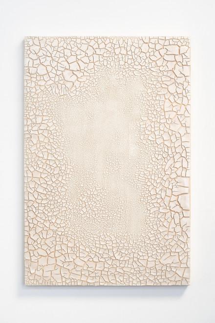 Fratturato V by Kris Lamba. 2020. Porcelain, Resin, Pigments on Framed Panel.