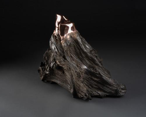 Untitled Bog Oak 3 by Kris Lamba. 2021. Bog Oak, Copper.