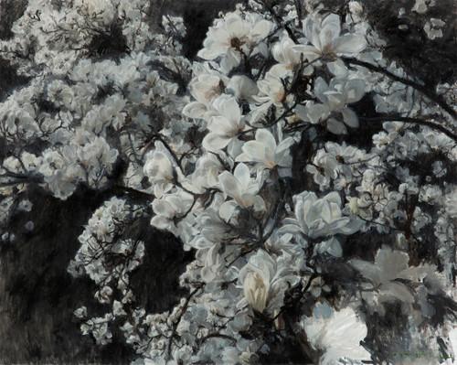 Magnolia by Lee Gye-wol. 2021. Oil on canvas.