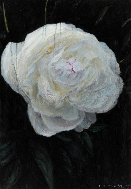 Peony by Lee Gye-wol. 2021. Oil on canvas.
